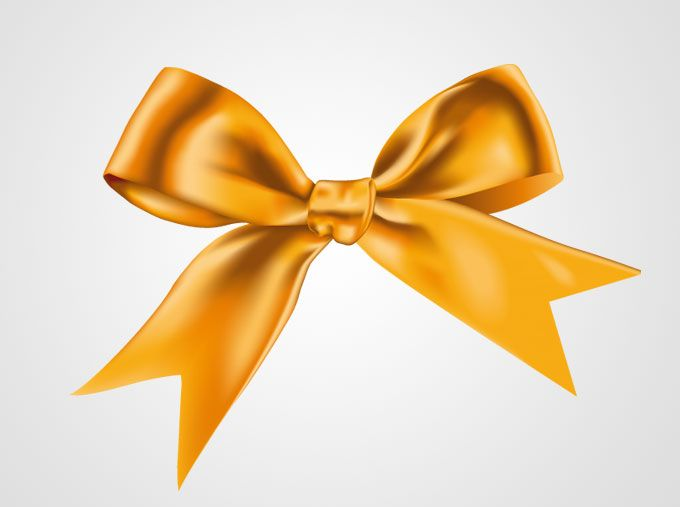 Yellow Ribbon Bow Vector (Free) | Free Vector Archive