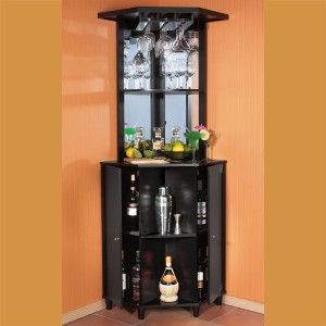 Corner bar cabinet wine rack wooden corner bar review for Lounge units designs