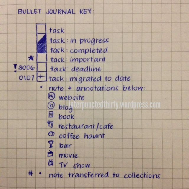 [Bullet Journal] Bullet Journal Rehashed | Decade Thirty → New bullet journal mods on my follow-up blog post here: http://interpunctedthirty.wordpress.com/2014/07/04/bullet-journal-rehashed/