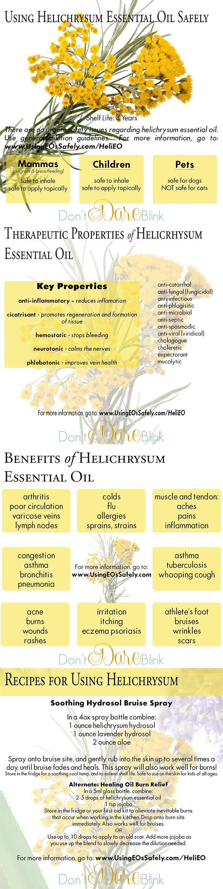 The highlights of helichrysum essential oil! Join the free mini courses to learn about a new oil each week. For more information about the courses, and using this essential oil safely, visit: http://UsingEOsSafely.com/HeliEO