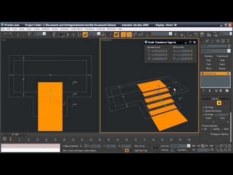 How to model stairs in 3Ds Max - YouTube