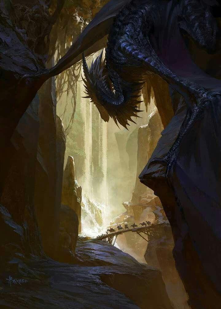 #fantasy #dragon #cave