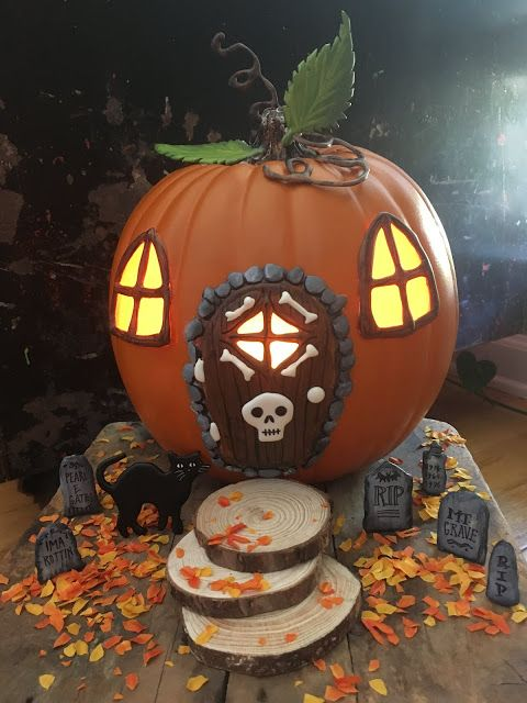 diy fairy pumpkin house love this halloween twist on the fairy house - Halloween Decorations Pumpkin