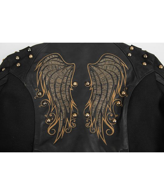 The Mantra Women's Leather Motorcycle Jacket - Black Brand