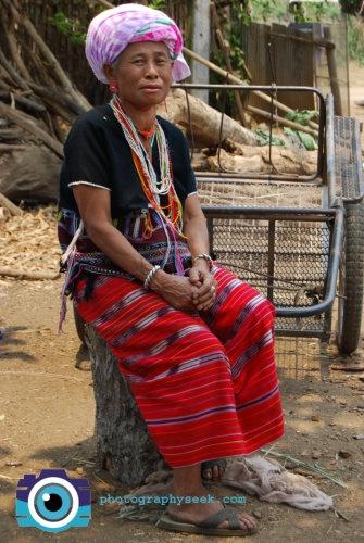 Chiang Mai Thailand Hill Ttribe Woman