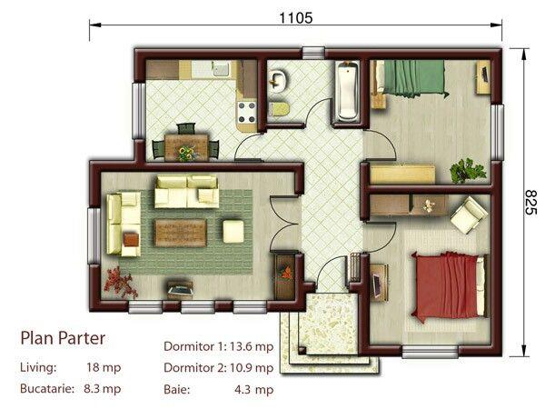 Casa pequena 2 quartos @