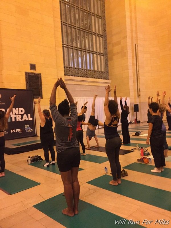 A Yoga Class at Grand Central - How Cool is That? #ZenCentral #NYC - http://willrunformiles.boardingarea.com/a-yoga-class-at-grand-central-how-cool-is-that-zencentral-nyc/