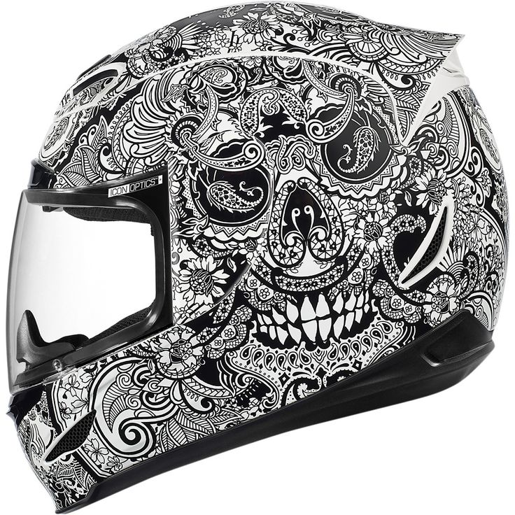 Icon Airmada Chantilly Helmet For many the image of Chantilly is lace, but in typical Icon fashion, they've taken Chantilly to a whole new level. The helmet is a work of art. Finished in glossy white