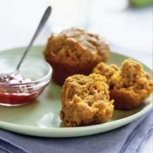 Fruity vegetable muffins