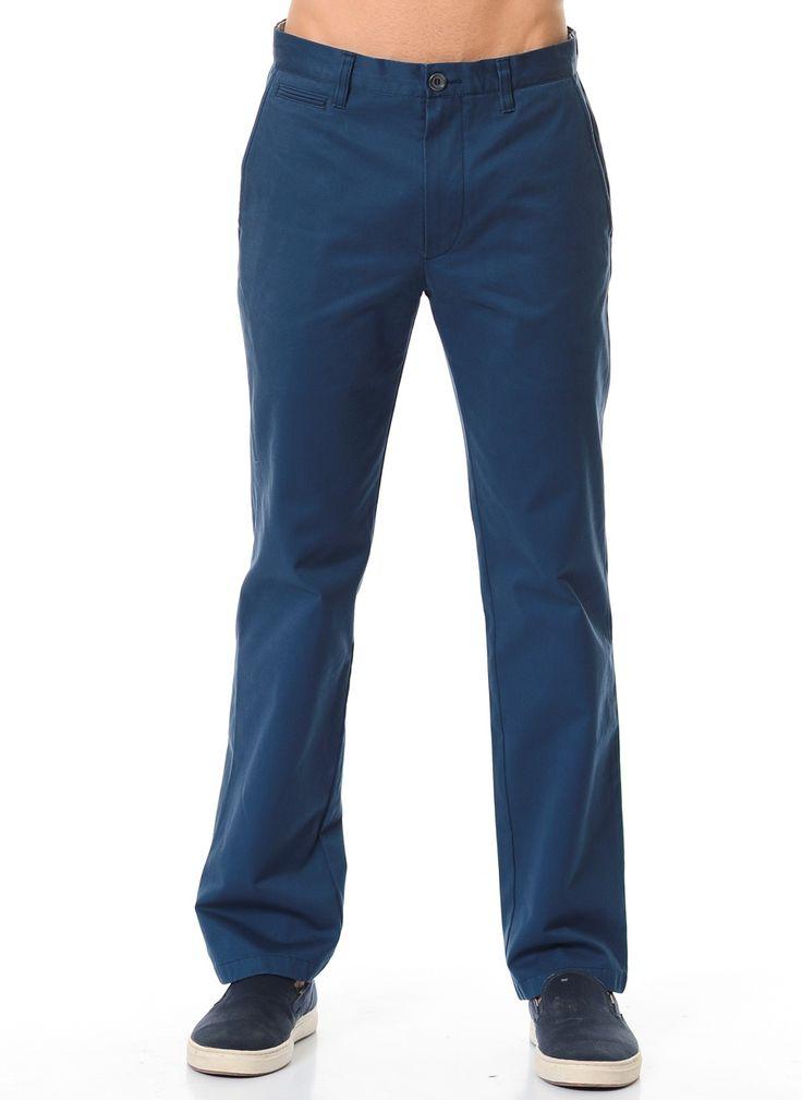 Мужские брюки из льна синего цвета