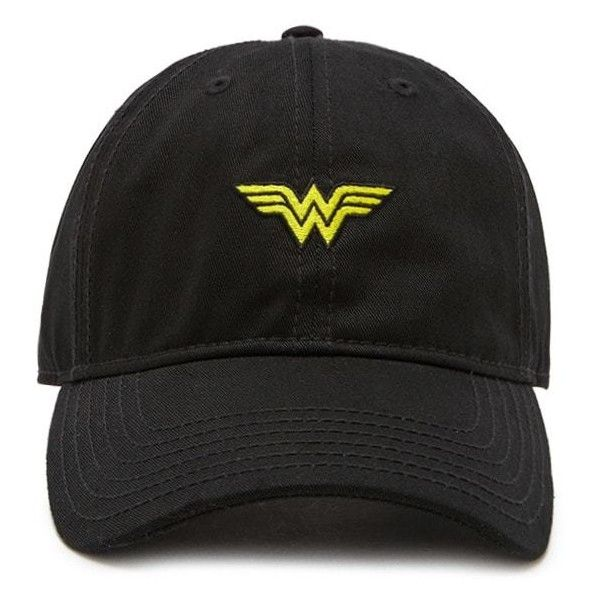 Forever21 Wonder Woman Baseball Cap (£9.91) ❤ liked on Polyvore featuring accessories, hats, baseball hat, forever 21 hats, ball cap hats, logo hats and forever 21