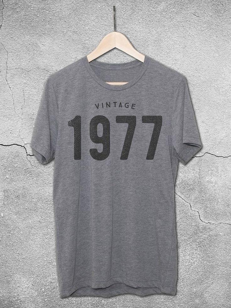 Vintage 1977 T-Shirt   40th Birthday Gift Ideas – Hello Floyd