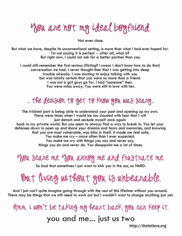 Love Letter to My Boyfriend Elegant Romantic Love Letter