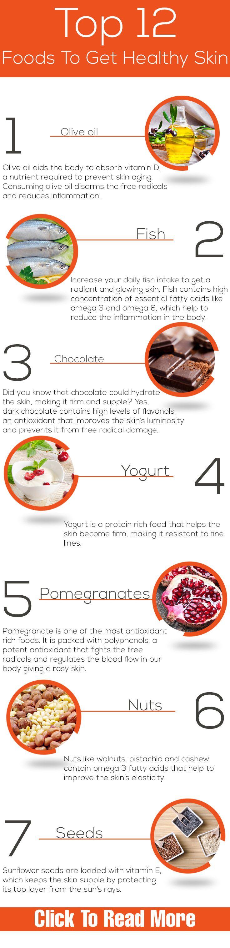 Top 12 Foods To Get Healthy Skin