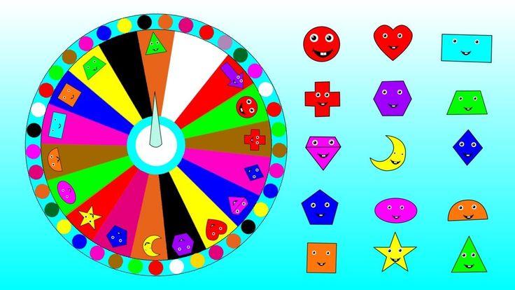Learn 2D Geometric Shapes Names In English For Kids Children Kindergarte...