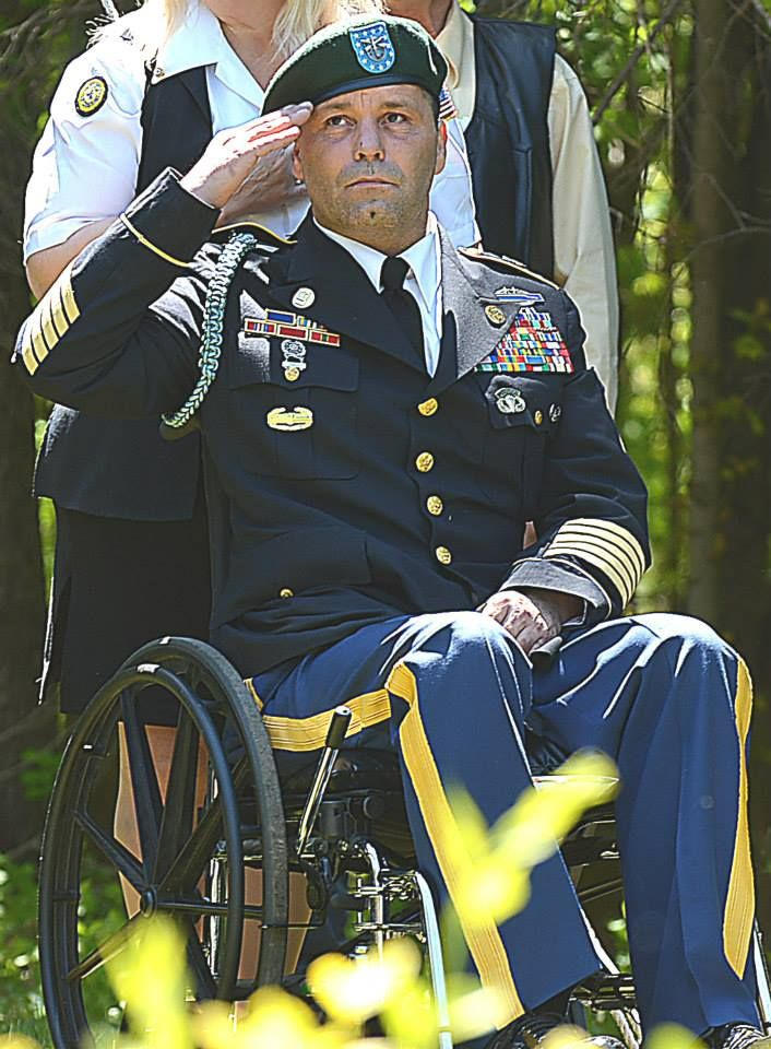 Share Tweet Pin Mail           Oxford, Michigan - On Memorial Day 2015, a day that is a solemn one for millions of people, Nicholas George showed up at a local Memorial Day ceremony clad in an Army uniform adorned with Valorous medals, including five Purple Hearts, Two Silver Stars a Green Beret and sitting in a wheelchair. It was hard not to notice him said CJ Carnacchio, editor for the Oxford Leader. CJ began to interview Nicholas, and ask him about his service to our country…