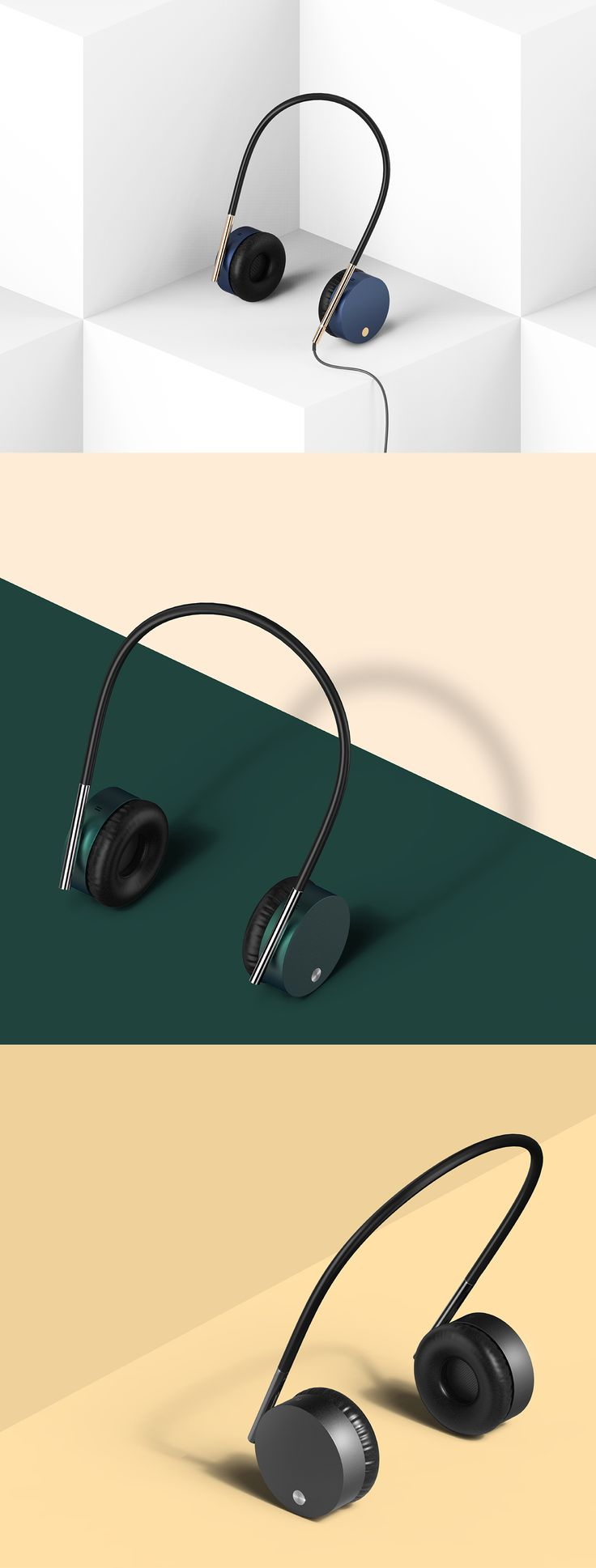 Compact design of the headset . Compared to that worn away to avoid burdensome headset | Cool headphones