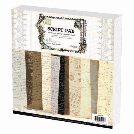 Prima - 12 x 12 Paper Pad - Script at Scrapbook.com $16.99