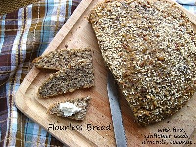 Home Cooking In Montana: Flourless Bread with NO Sugar made with Flax, Seeds and Almonds...also known as Good Morning Bread