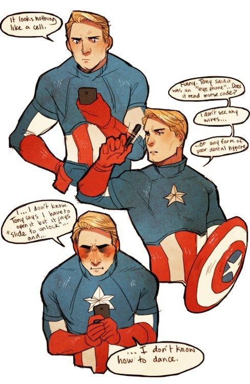 .: Captainamerica, New Technology, Studios Apartment, Poor Steve, Funny Captain America, Avengers Marvel, Captain America Funny, Poor Captain, Superhero