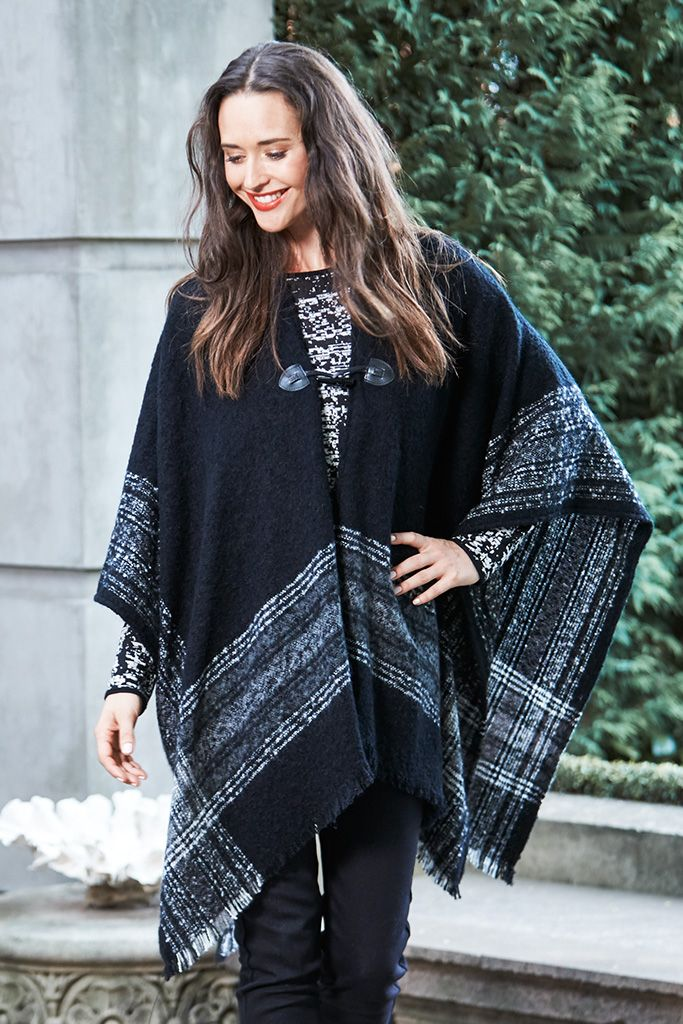 BUCKLE DETAIL PONCHO Rug up over these cooler months with this warm and woolly wrap. If you're heading out for some lunch or meeting up with friends, this is the perfect addition to your ever-growing wardrobe!