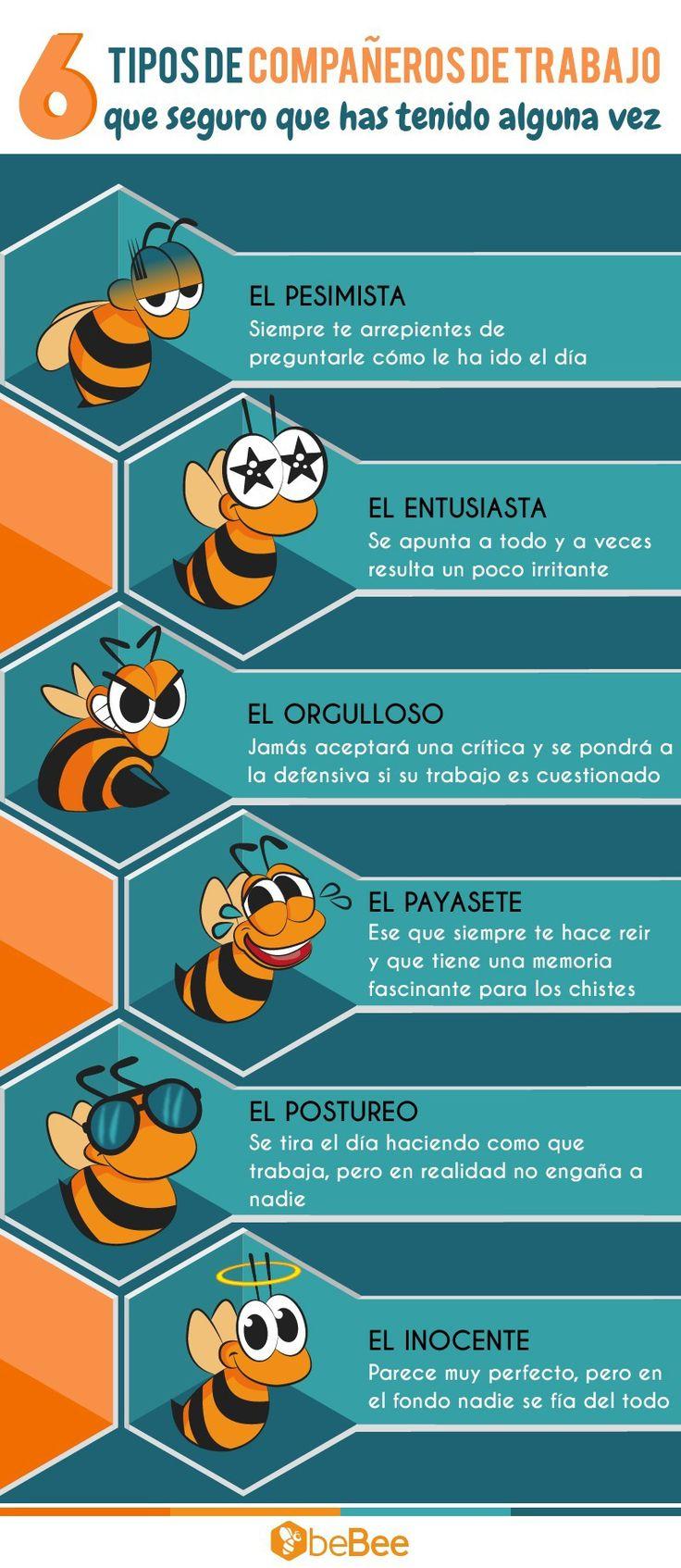 6  tipos de compañeros de trabajo (que has tenido alguna vez) #infografía