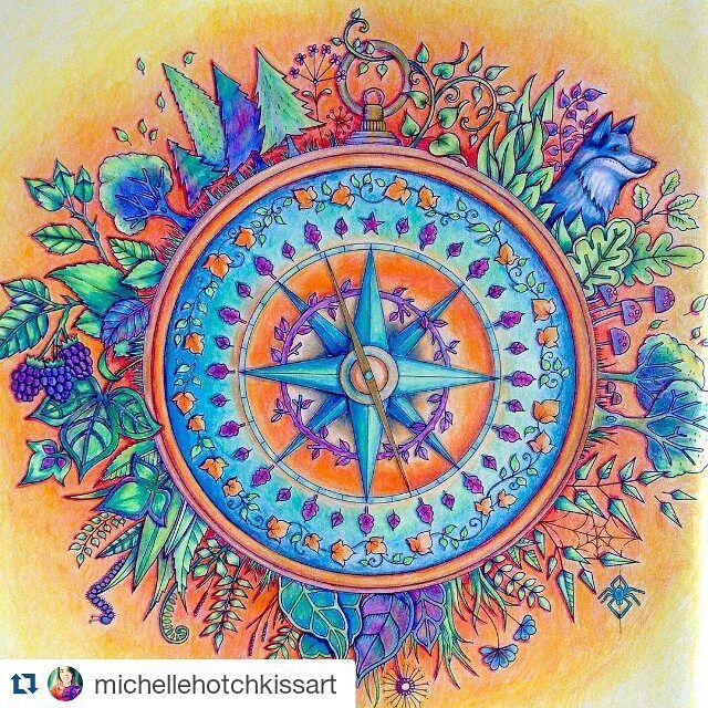 Billedresultat For Enchanted Forest Coloring Book Colored
