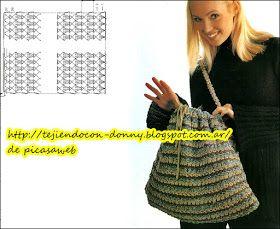 Bolso tejido con lanas que nos van quedando ,  tejidos a de amigas y con poquito hacemos  un regalo para el día del amigo                  ...