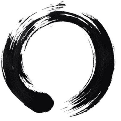 "Ensō ( 円相 ) is a Japanese word meaning ""circle"" and a concept strongly associated with Zen.Ensō is one of the most common subjects of Japanese calligraphy even though it is a symbol and not a character. It symbolizes absolute enlightenment, strength, elegance, the universe, and the void......."