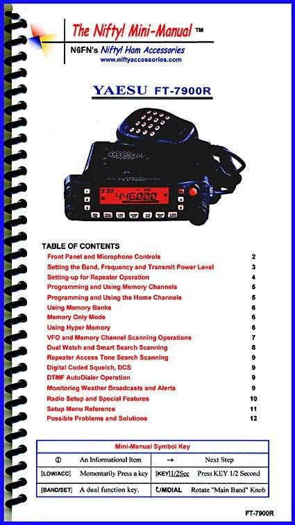 Yaesu FT-7900R Nifty Mini Manual $18.99  Visit Fleetwood Digital for ~400+ #HamRadio #hamr related items! https://goo.gl/xdeJSp
