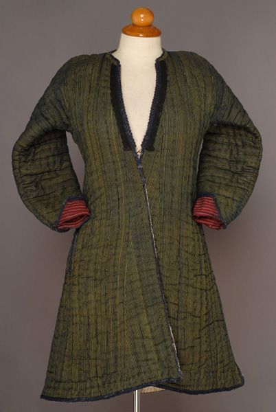 Greece, Macedonia, Drama, woman peasant festive sleeved overcoat (anderia), silk and cotton