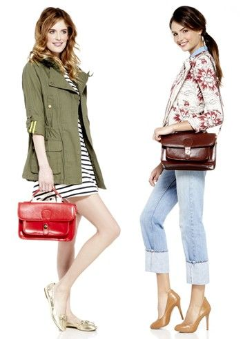 cute outfits and purses!