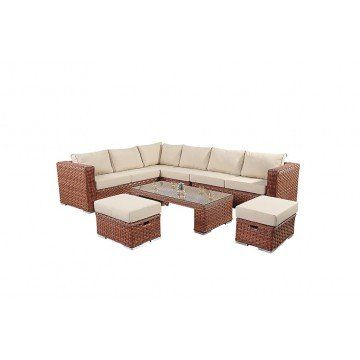Port Royal Platinum Large Corner Sofa from £999.99 with FREE delivery!