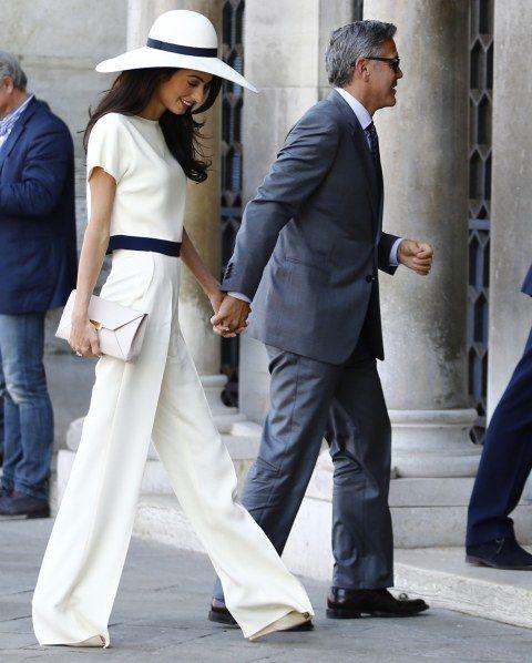 12 tenues pour dire 'oui' en pantalon : Mariage Alamudin et George Clooney en 2014