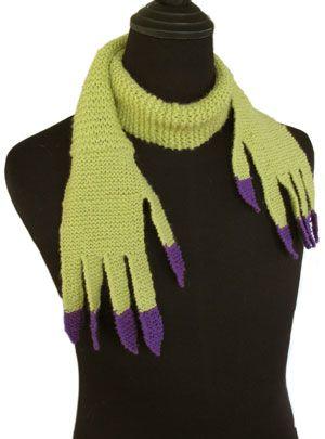 Creepy, fun or x-rated....you decide.  Halloween scarf