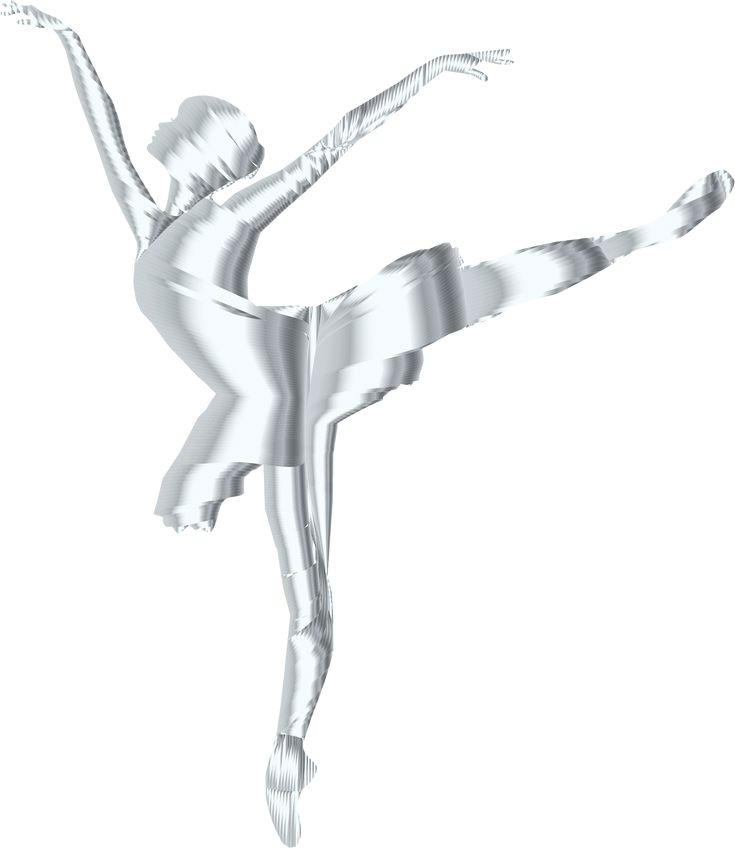 Silver Graceful Ballerina Silhouette No Background by @GDJ, Silver Graceful Ballerina Silhouette No Background., on @openclipart