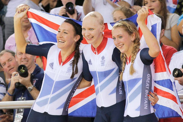 Cycling Pursuit women - Gold for Great Britain  Silver - United States