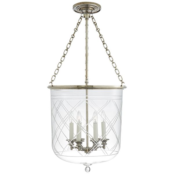 Cambridge large smoke bell pendant in natural brass with clear glass ceiling fixtures lighting products ralph lauren home