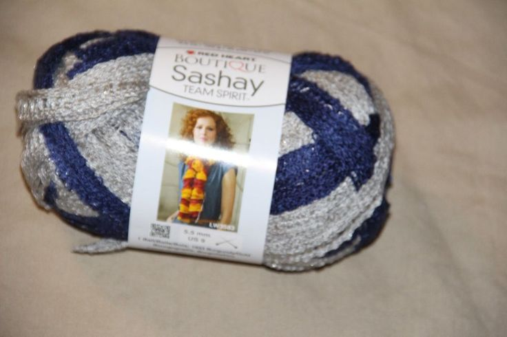 RED HEART BOUTIQUE SASHAY TEAM SPIRIT YARN 3.5 OZ EACH Sports Color Navy Grey #RedHeart #Yarn97acrylic3metallicpolyester