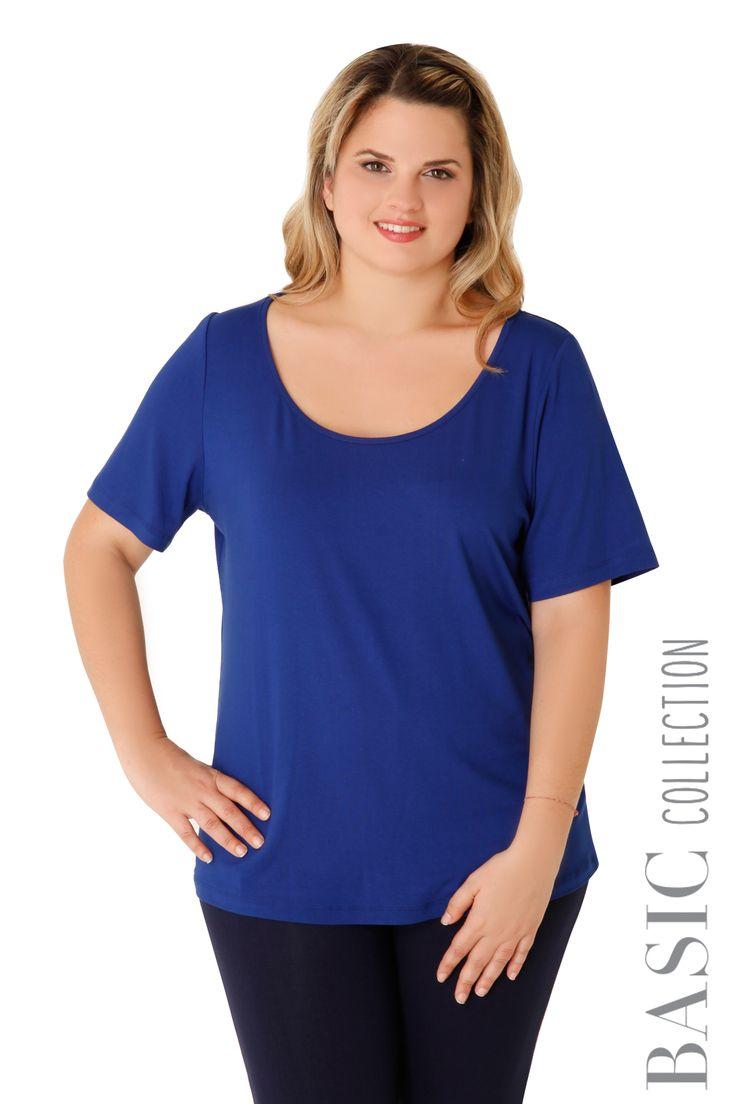 Βισκόζ κοντομάνικη μπλούζα - Ρούχα - Νέες Παραλαβές | XLcloset