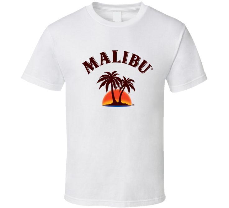 Malibu Liquor Whiskey Beer Gin Father's Day Gift T-Shirt