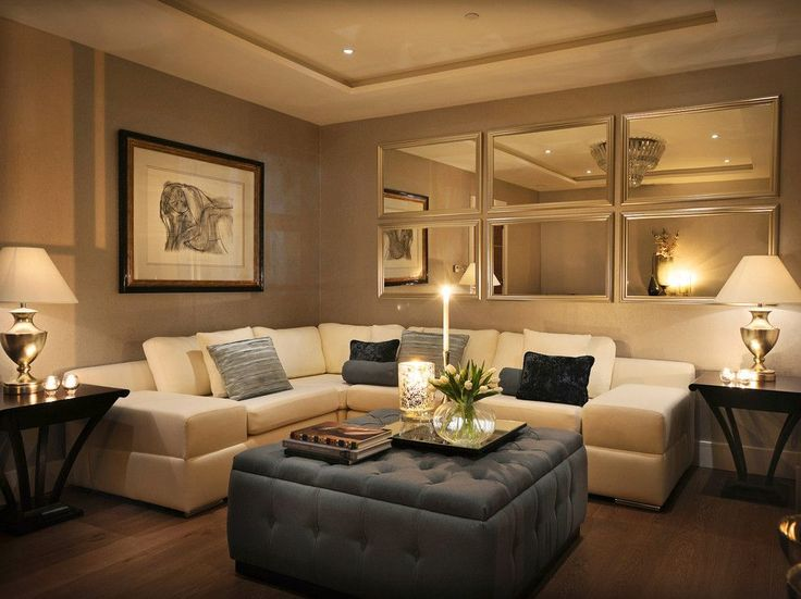 Elegant Living Room Contemporary Design Ideas For Mirror