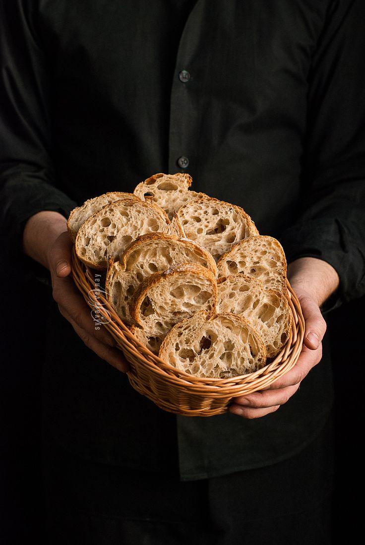 40 hours-fermentation sourdough bread. By Sylvain Vernay.