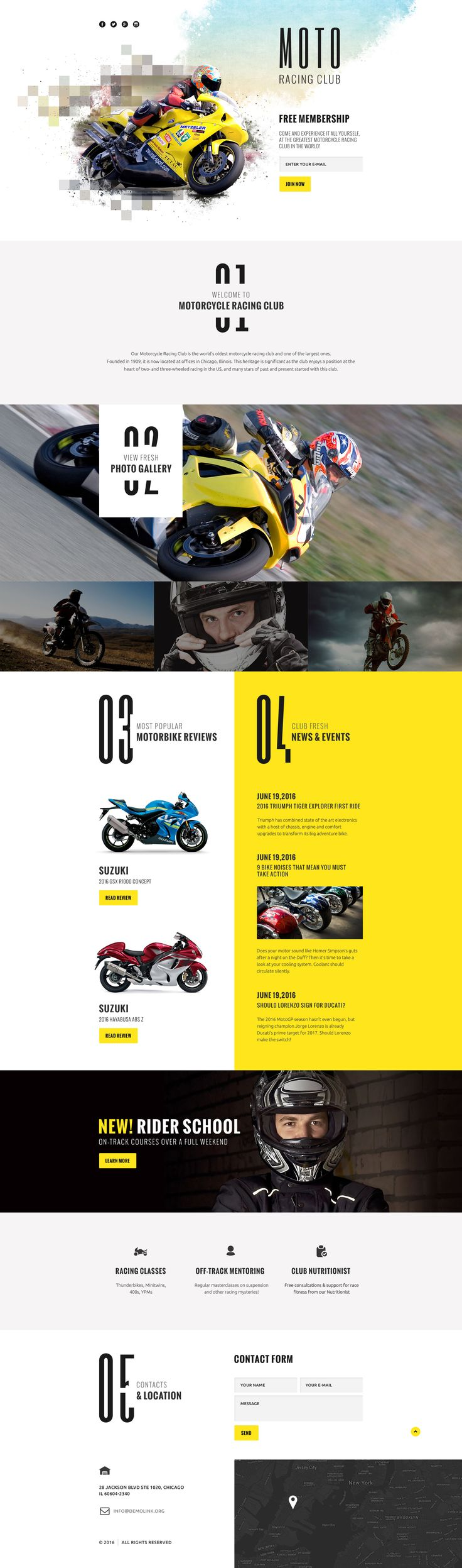 Motor Sports Responsive Landing Page Template #58525…