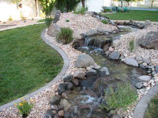 1000 ideas about backyard stream on pinterest moss for Pond stream design