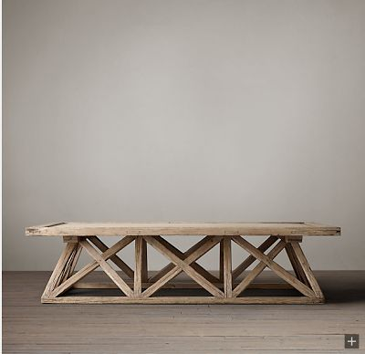 hardware look alikes restoration hardware timber trestle door table