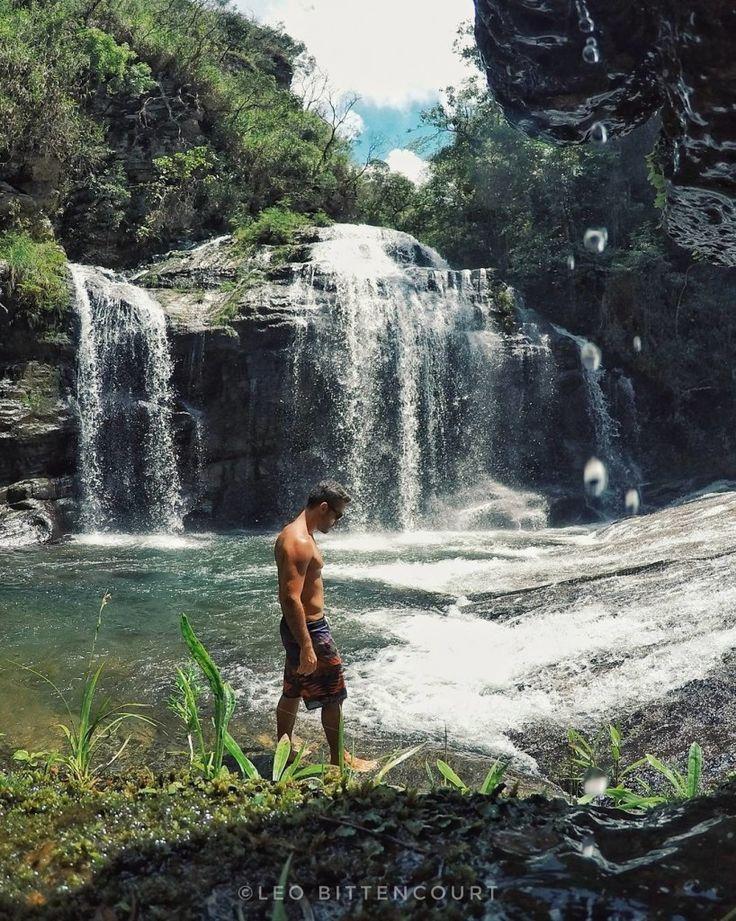 Contemplando a Cachoeira dos Anjos, Carrancas - MG