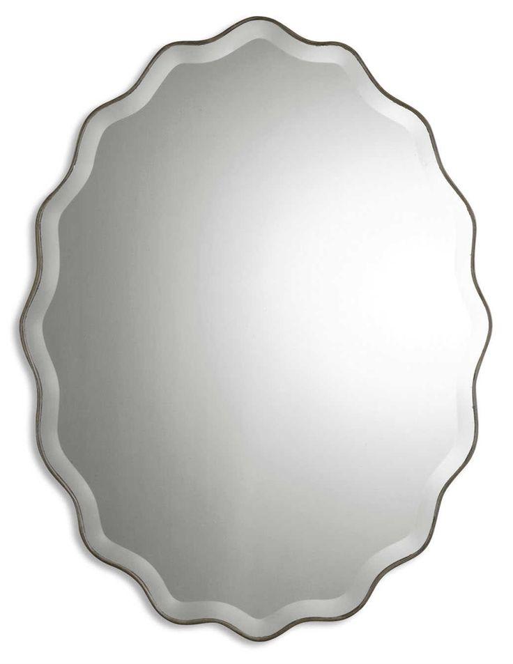 Uttermost Teodora Ruffed Edge Mirror. Badezimmer SchminkspiegelOvaler  SpiegelPulver ZimmerMaster BadBadezimmer