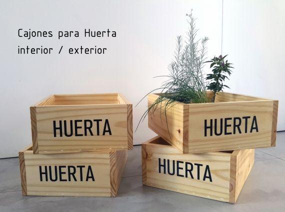 Cajón de madera para Huerta/ plantas. Protegidas en el interior y exterior