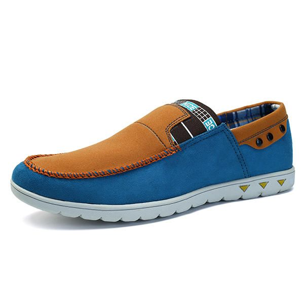 Men Casual Comfortable Elastic Band Old Peking Style Slip On Loafers Flats - US$42.99